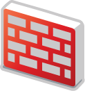 firewall red 3d